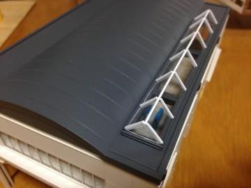 駅舎屋根塗装